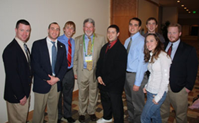 dr rich hurley and turf students