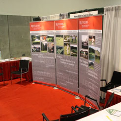 Rutgers turf booth at the GCSAA convention
